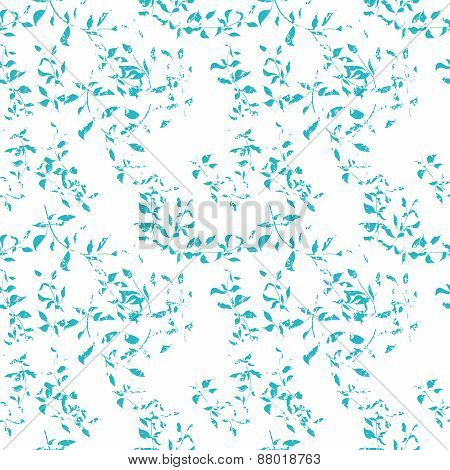 Seamless pattern with grunge leaves.