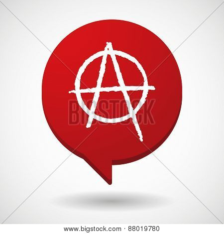 Comic Balloon Icon With An Anarchy Sign