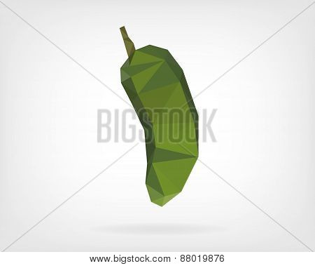 Low Poly Jalapeño Pepper