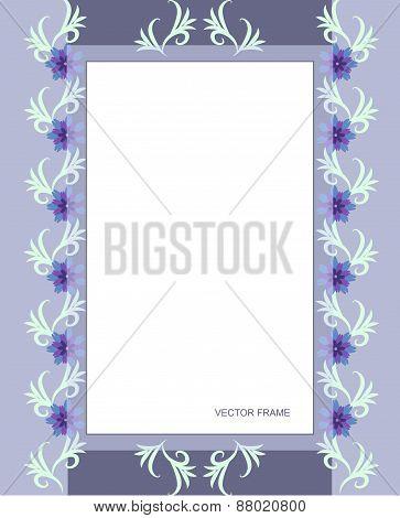 Rectangular flower frame