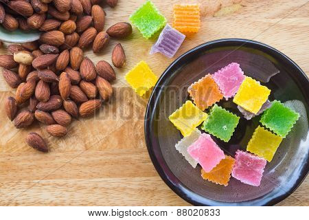 Almonds and dessert