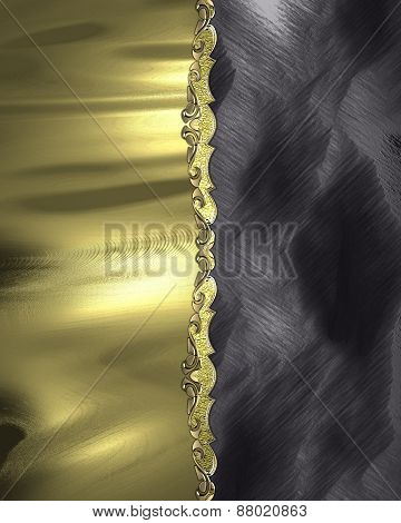 Element For Design. Template For Design. Abstract Yellow Texture With Black Decoration