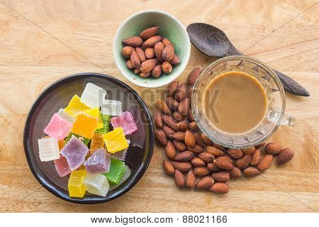 Dried almonds