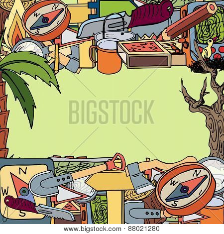 illustration on the theme of travel and tourism.