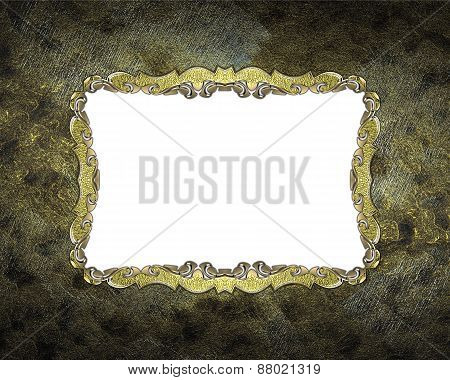 Element For Design. Template For Design. Grunge Frame With Gold Pattern