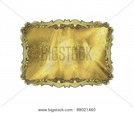 Element For Design. Template For Design. Gold Frame With Patterns