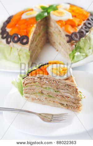 Salty Pancake Cake