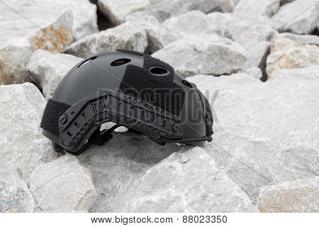 Modern combat helmet.