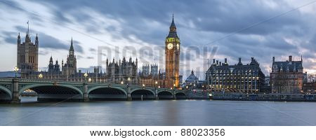 Panoramic View Of Big Ben