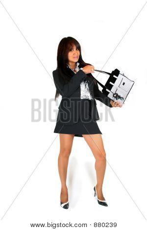 Business Woman With Handbag