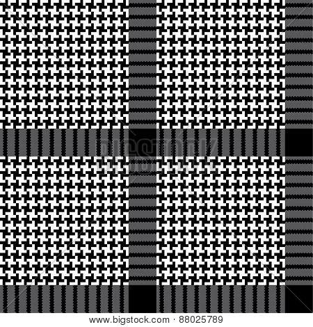 Seamless fashion pattern of plaid.