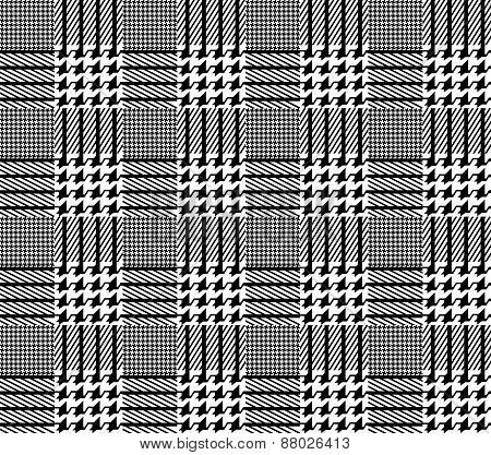 Seamless fashion pattern of plaid