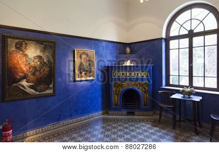 Reception Room. Bet Bialik House Museum. Tel Aviv, Israel.