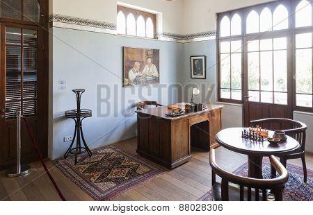 Study Room In Bet Bialik House Museum. Tel Aviv, Israel.