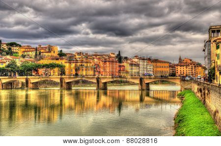 Ponte Alle Grazie, A Bridge In Florence - Italy