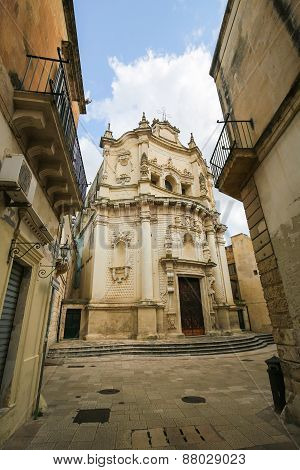 Church Of Saint Matthew In Lecce, Puglia, Italy