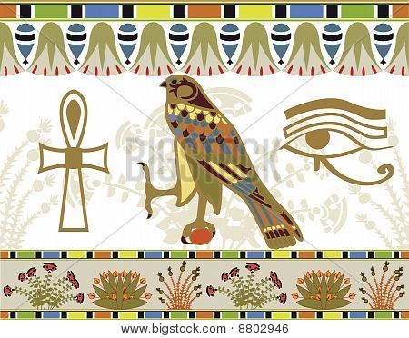 Egyptian patterns, borders and symbols