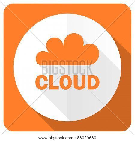cloud orange flat icon