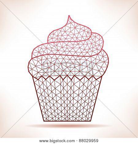 Geometric Cupcake.