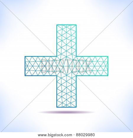 Geometric Medical Cross.