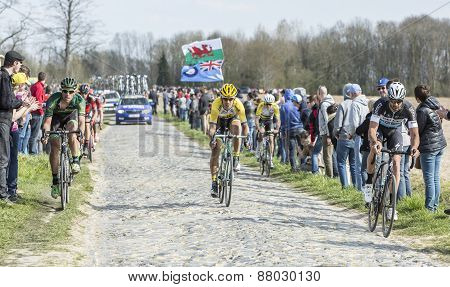 Group Of Cyclists- Paris Roubaix 2015