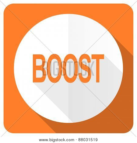 boost orange flat icon