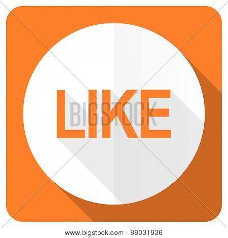 like orange flat icon