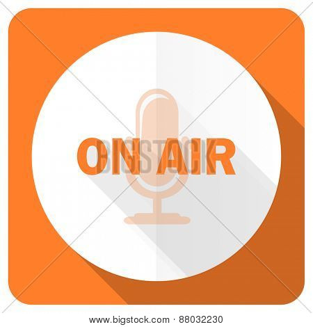 on air orange flat icon