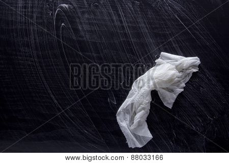 Wet Paper Napkin With Soap Stains