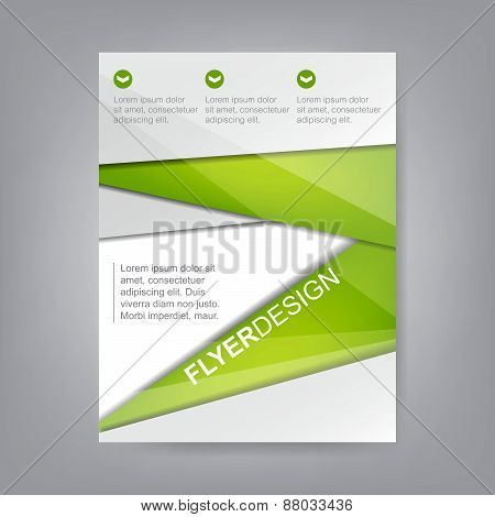 Business flyer template, corporate banner, brochure or cover design