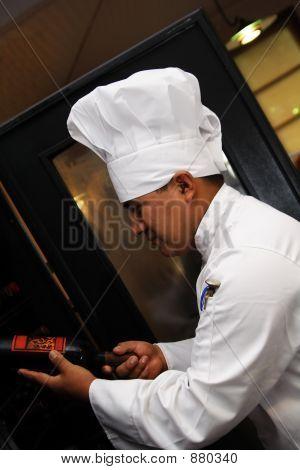 Chef Choosing Wine 2
