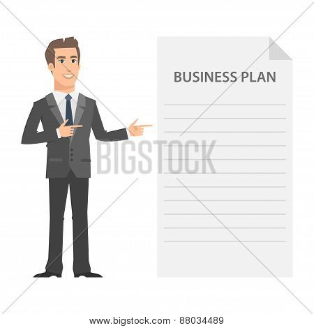 Businessman and business plan concept