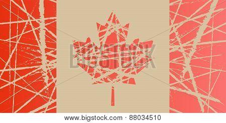 Worn Flag of Canada