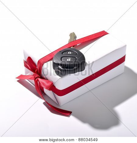 Car Key And Gift Box
