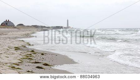 Beach At Skagen In Denmark.