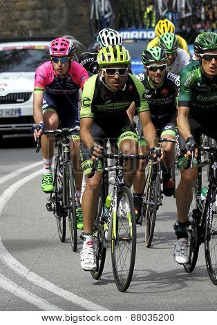 BARCELONA - MARCH, 29: Janier Acevedo of Garmin Cannondale Team rides during the Tour of Catalonia cycling race through the streets of Monjuich mountain in Barcelona on March 29, 2015