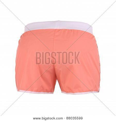 Orange Shorts On A White Background