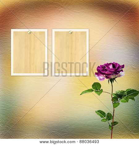 Drawing Beautiful Bouquets Of Roses On Pastel Background