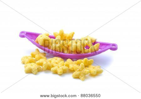 Star shape cereal breakfast