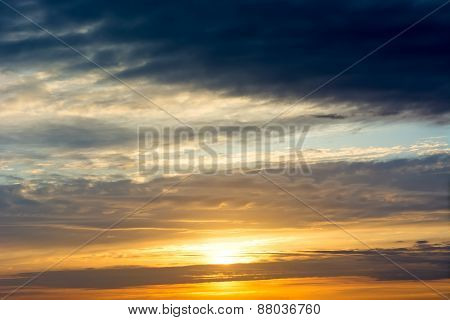 Sunset / Sunrise With Clouds.