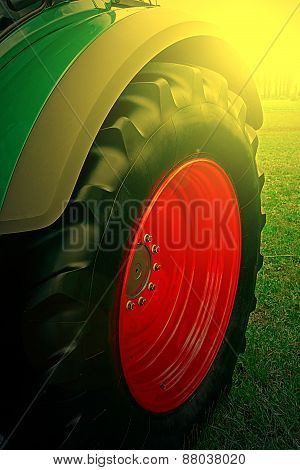 Agricultural Equipment In Sunset Light. Detail 27