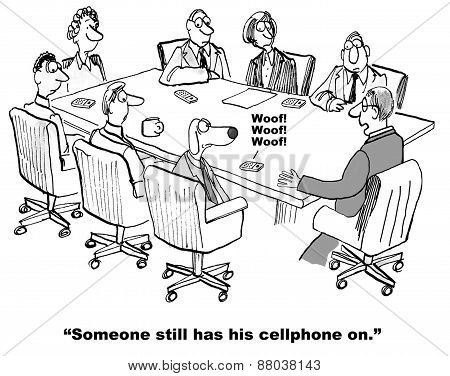 Cellphone is Interrupting Meeting