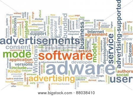 Background text pattern concept wordcloud illustration of adware software