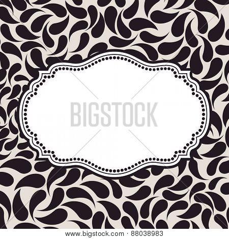 elegant background pattern. Floral frame elements, ornament background seamless