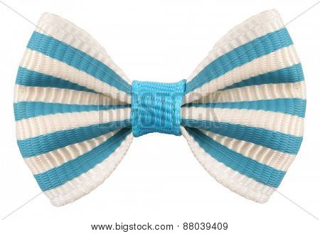 Striped bow tie white blue stripes