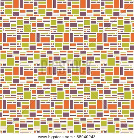 Seamles Geometric Abstract Colorful Pattern