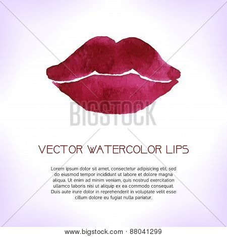 Watercolor Lips.
