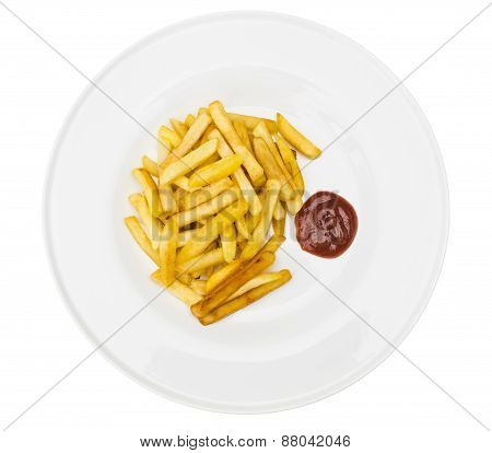Fried Potatoes With Ketchup