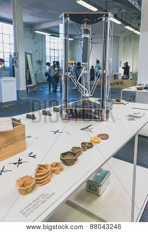 3D Printer On Display At Ventura Lambrate Space During Milan Design Week