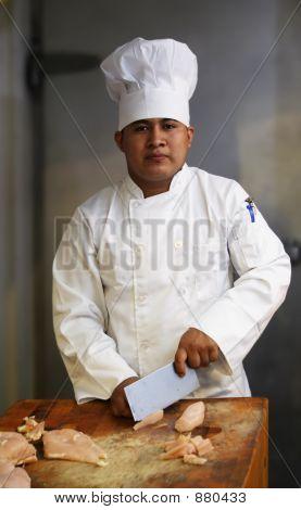 Chef schneiden Fleisch 2
